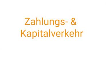 Zahlungs-Kapitalverkehr